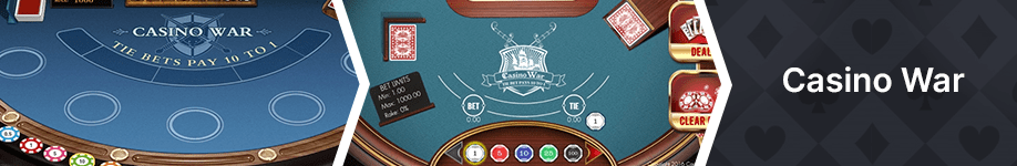 casino war worst casino games odds and payouts