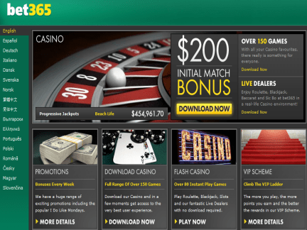 Bet365 Casino Sign Up Bonus