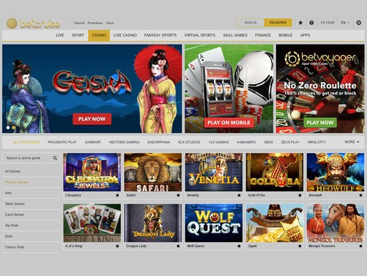 Bet Cruise Casino software screenshot