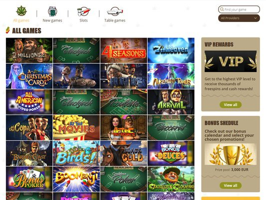 Bob Casino software screenshot