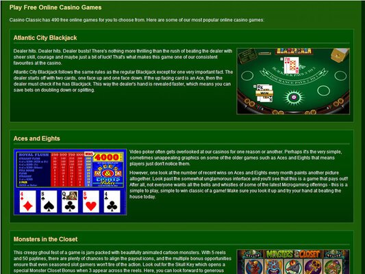Classic Casino software screenshot