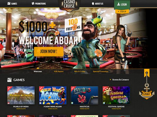 Casino Cruise website screenshot
