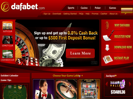 Dafa888 Casino website screenshot