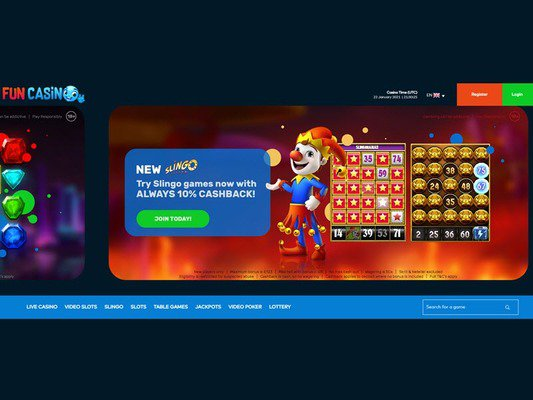 Fun Casino website screenshot