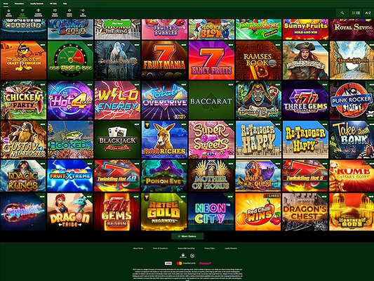 Roo Casino software screenshot