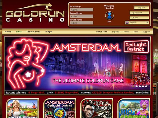 Gold Run Casino software screenshot