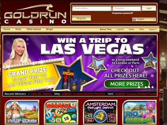 Gold Run Casino website screenshot