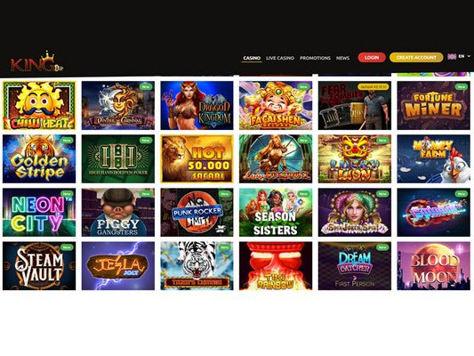 Kingbit Casino software screenshot