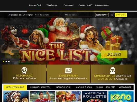 Le bon Casino website screenshot