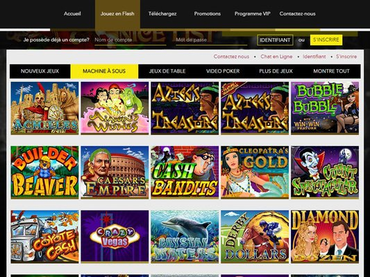 Le bon Casino software screenshot