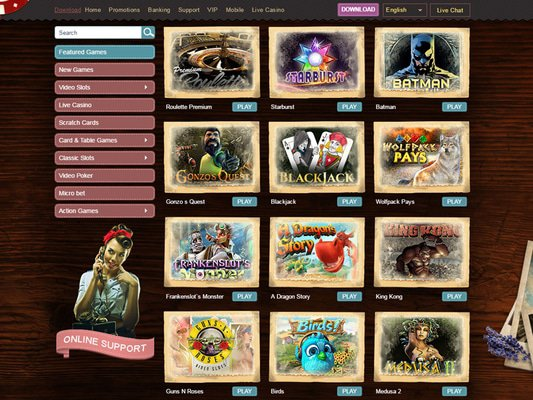 Madame Chance Casino software screenshot