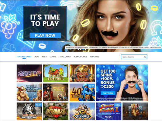 Mr Play Casino website screenshot