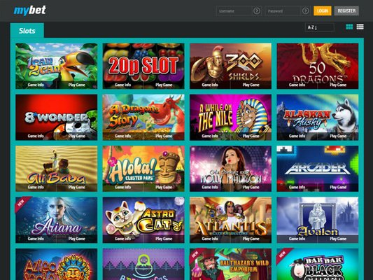 Mybet Casino software screenshot