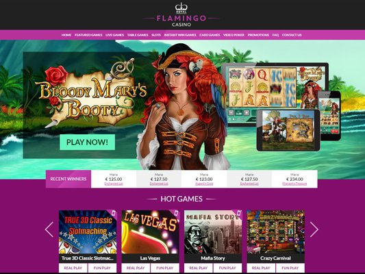 Royal Flamingo Casino website screenshot