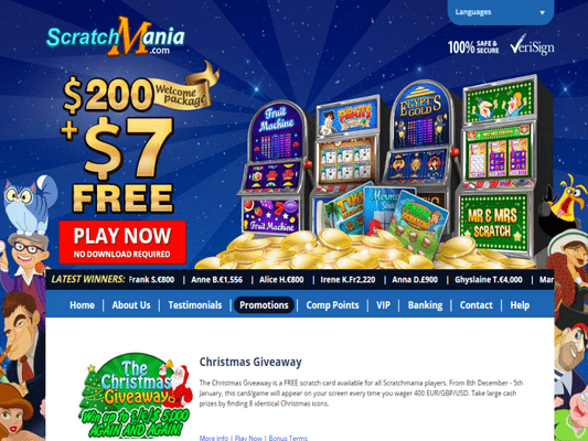 Scratch Mania Casino software screenshot