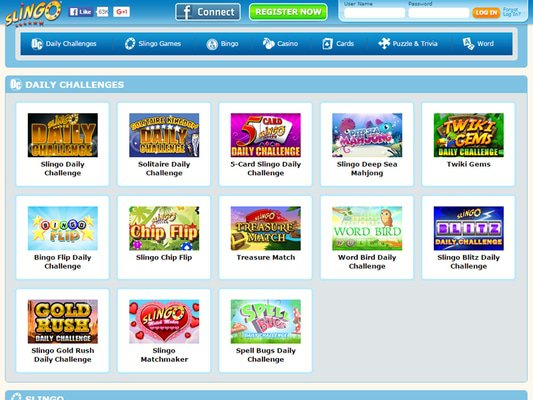 Slingo Casino software screenshot