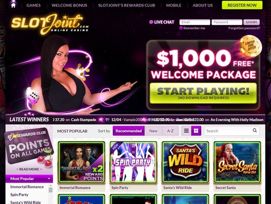 Slot Joint Casino website screenshot