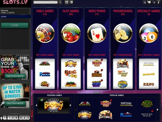 Slots.lv software screenshot