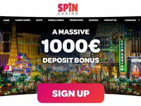 Spin Casino website screenshot