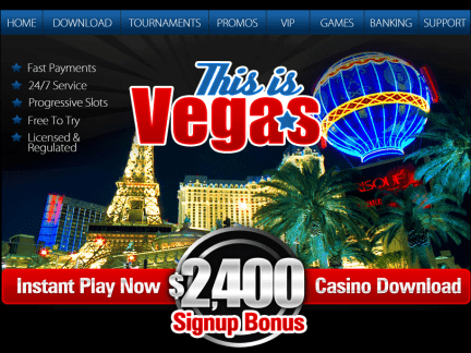This Is Vegas Casino website screenshot