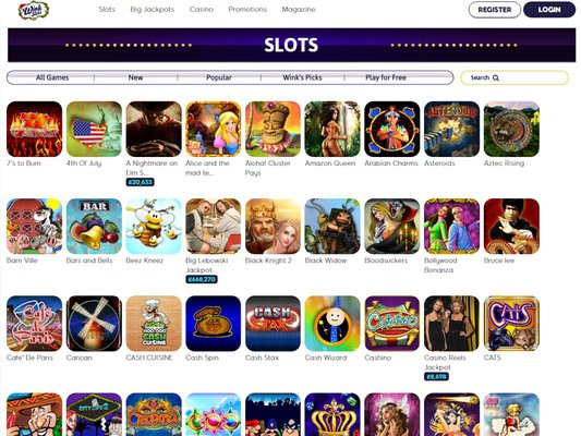 Wink Slots Casino software screenshot
