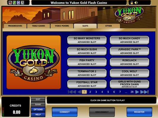 Yukon Gold Casino software screenshot