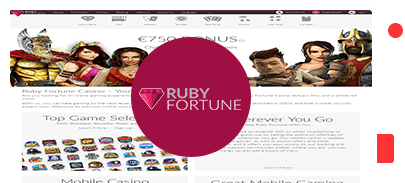 Ruby Fortune Casino bonus