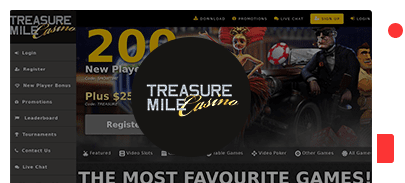 Treasure Mile Casino bonus top 10 casinos