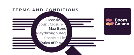 Boom Casino Terms and Conditions