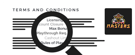 Casino Masters Terms