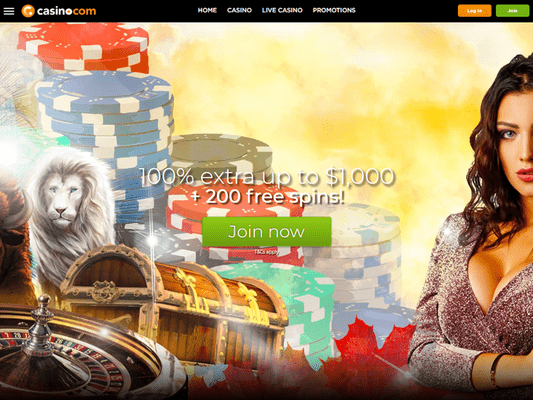 Casino.Com website screenshot