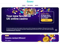 Casumo Casino website screenshot