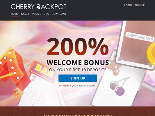 CherryJackpot website screenshot