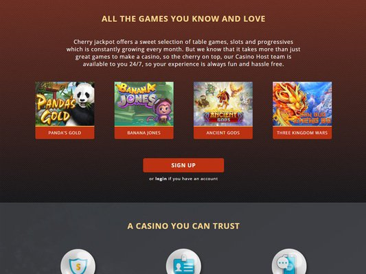 CherryJackpot software screenshot