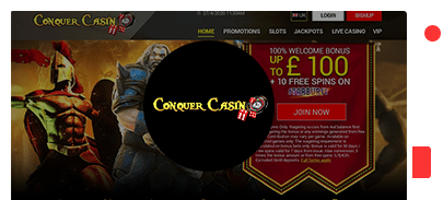 conquer casino bonus top 10
