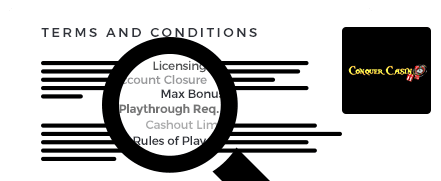 conquer casino top 10 terms and conditions
