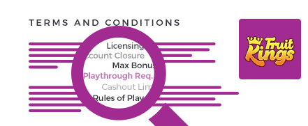 FruitKings Casino Terms