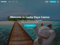 LuckyDays Casino website screenshot