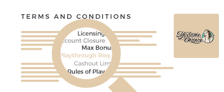Madame Chance Casino Terms