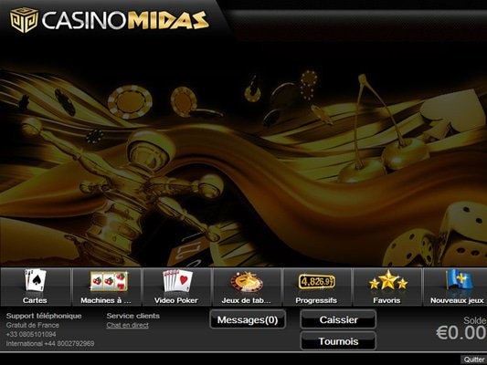 Casino Midas software screenshot