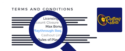 Rolling Slots Casino Terms