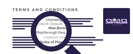 Samosa Casino Terms and Conditions