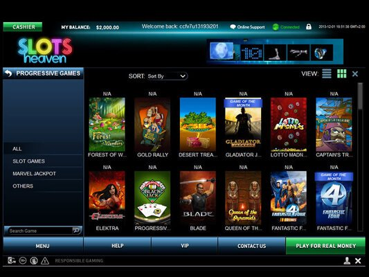 Slots Heaven software screenshot