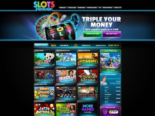Slots Heaven website screenshot