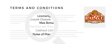 Spin Palace Casino Terms
