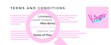 sugar casino top 10 terms and conditions