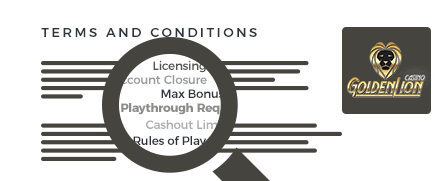 golden lion casino top 10 terms and conditions