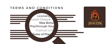 avalon78 casino top 10 terms and conditions