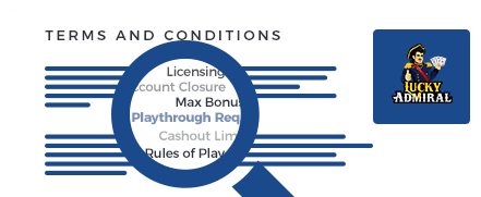 lucky admiral casino top 10 terms and conditions