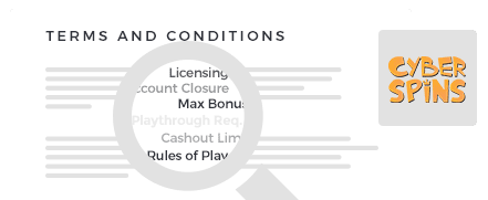 cyber spins casino top 10 terms and conditions